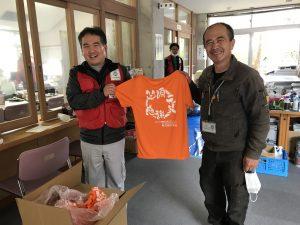 令和2年7月熊本豪雨 ボランティアセンター応援Tシャツ寄贈